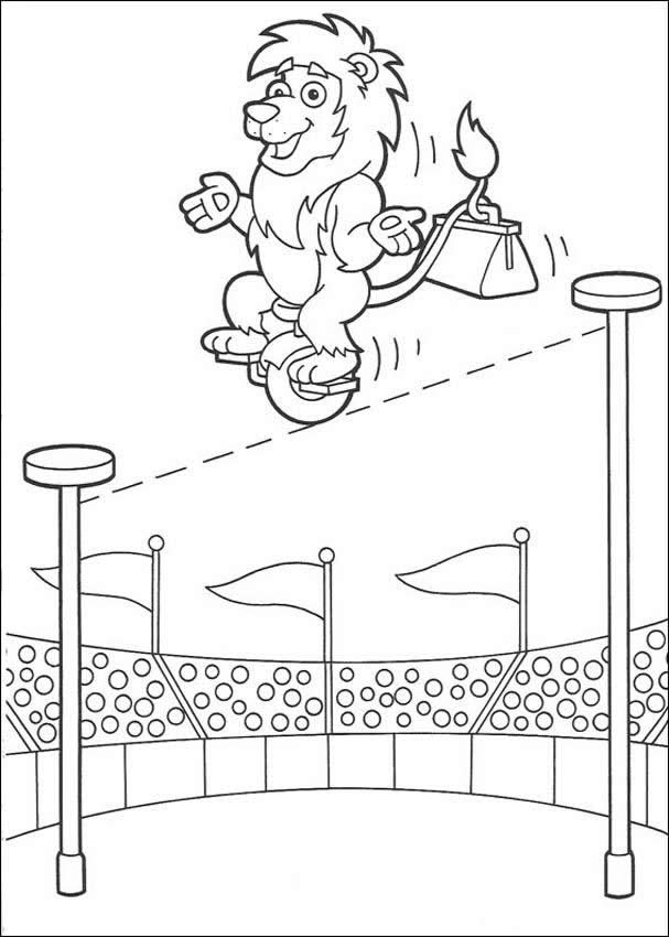 Circus Lion Coloring Pages