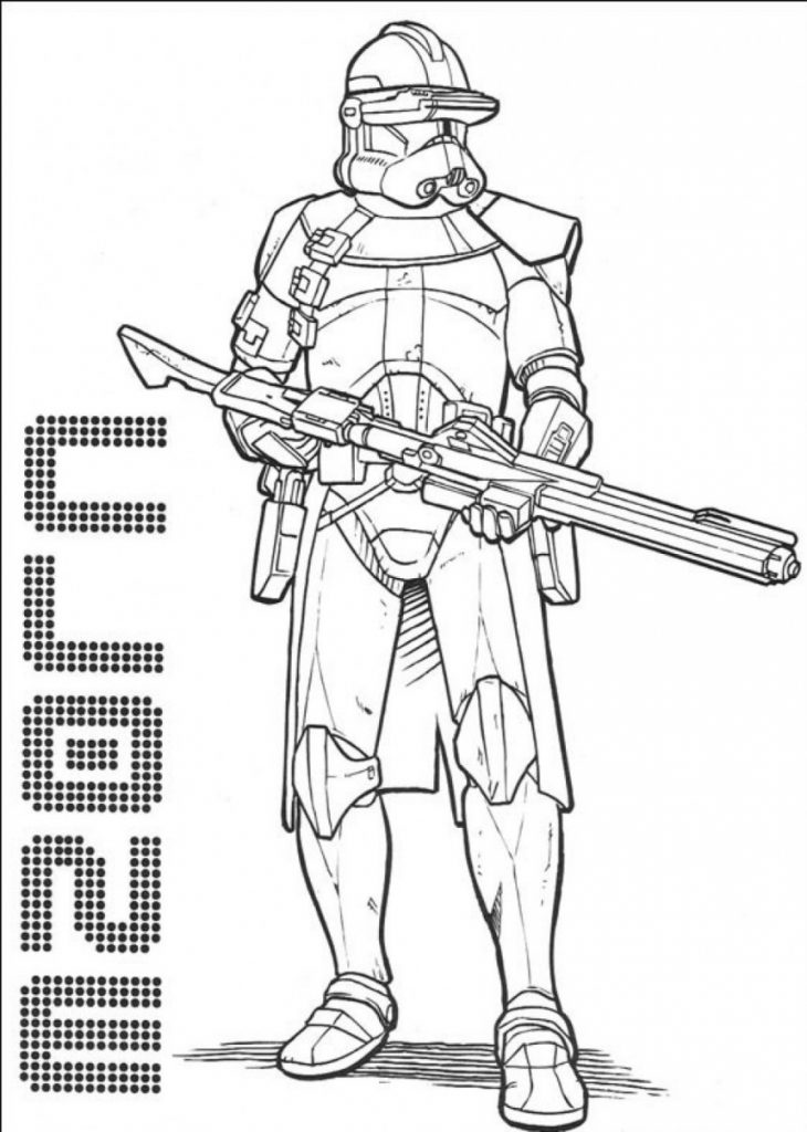 Clone - Star Wars Coloring Pages