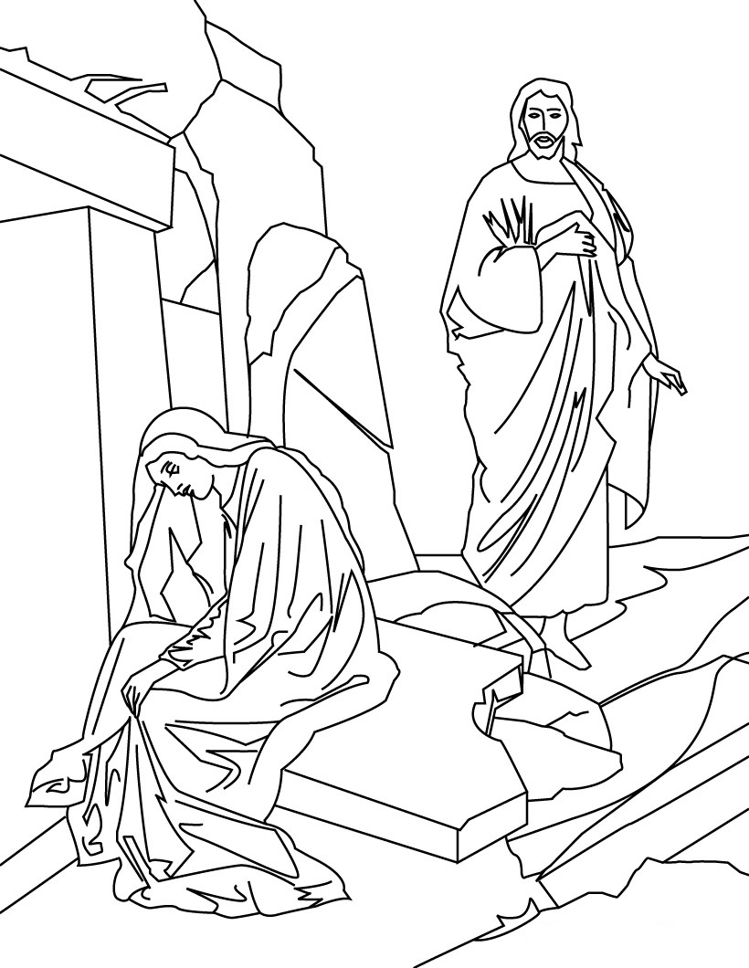 resurrection coloring pages - free printable jesus coloring pages for kids