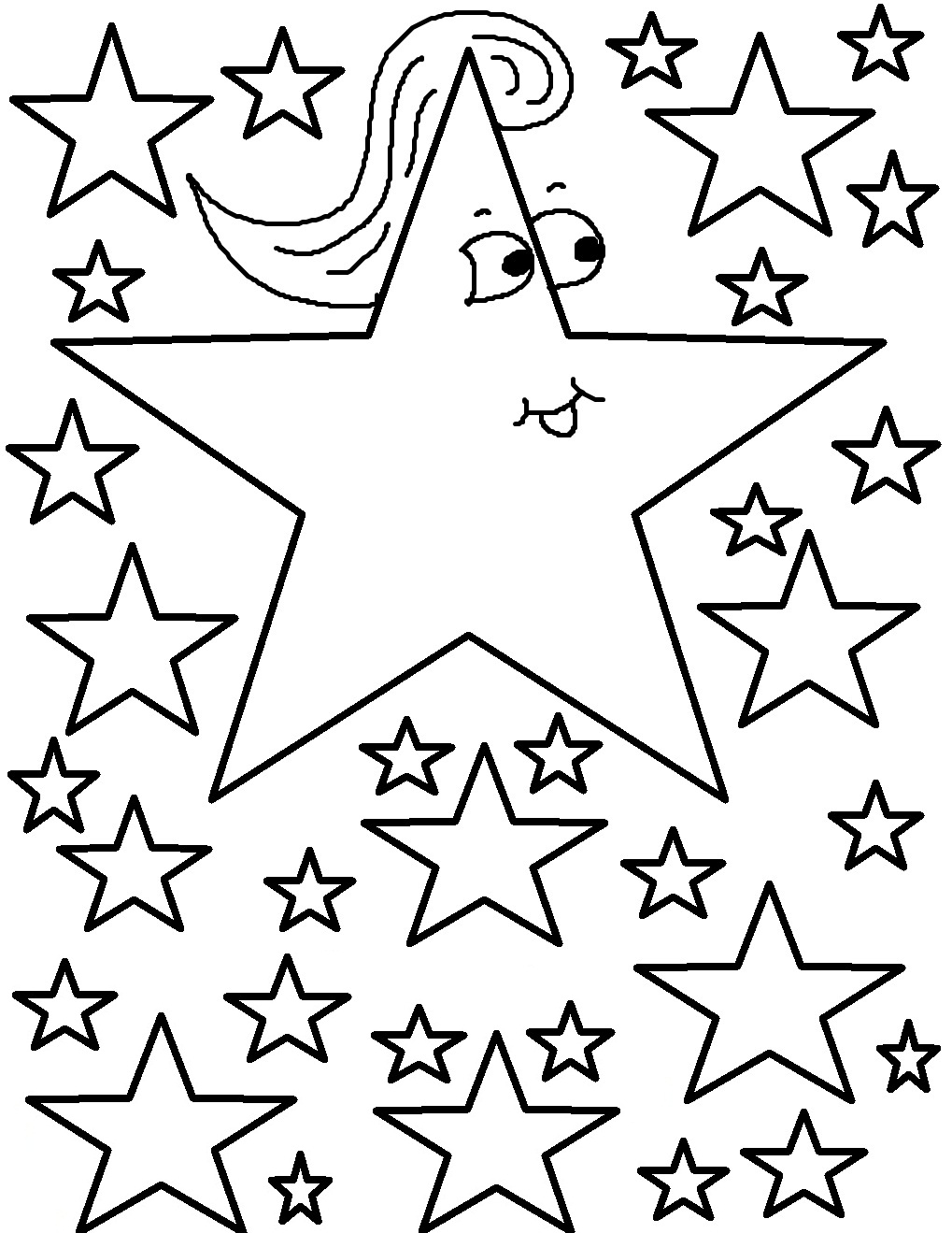 graphic relating to Free Printable Stars called Absolutely free Printable Star Coloring Internet pages For Small children