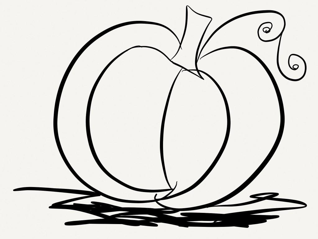 Free Printable Pumpkin Coloring