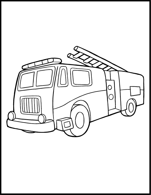 Coloring Pages Fire Truck