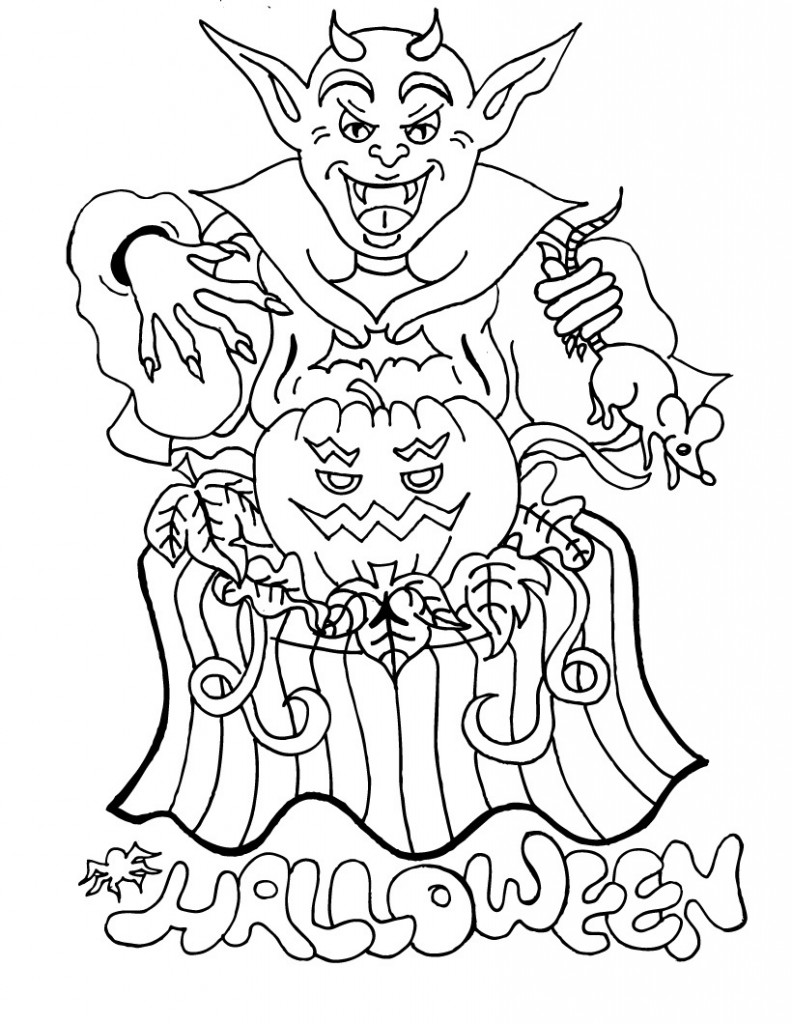 Free printable halloween coloring pages for kids for Coloring book pages for toddlers