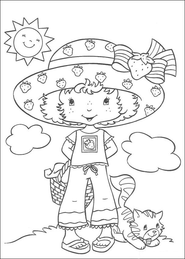 Coloring Pages For Strawberry Shortcake
