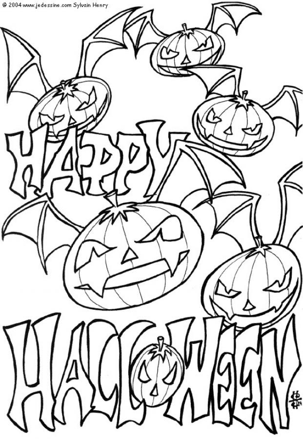 Free printable halloween coloring pages for kids for Cute halloween coloring pages free