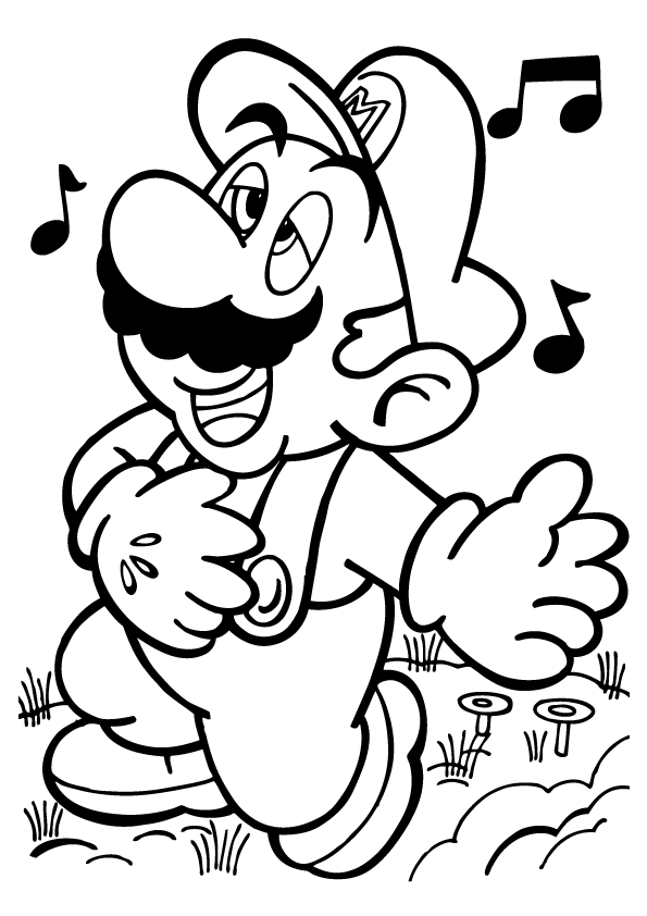 Coloring Pages Mario Brothers