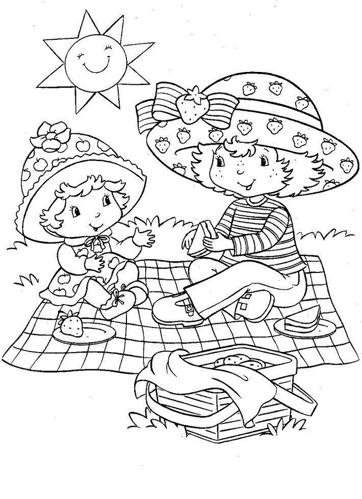 Strawberry Shortcake Characters Coloring Pages