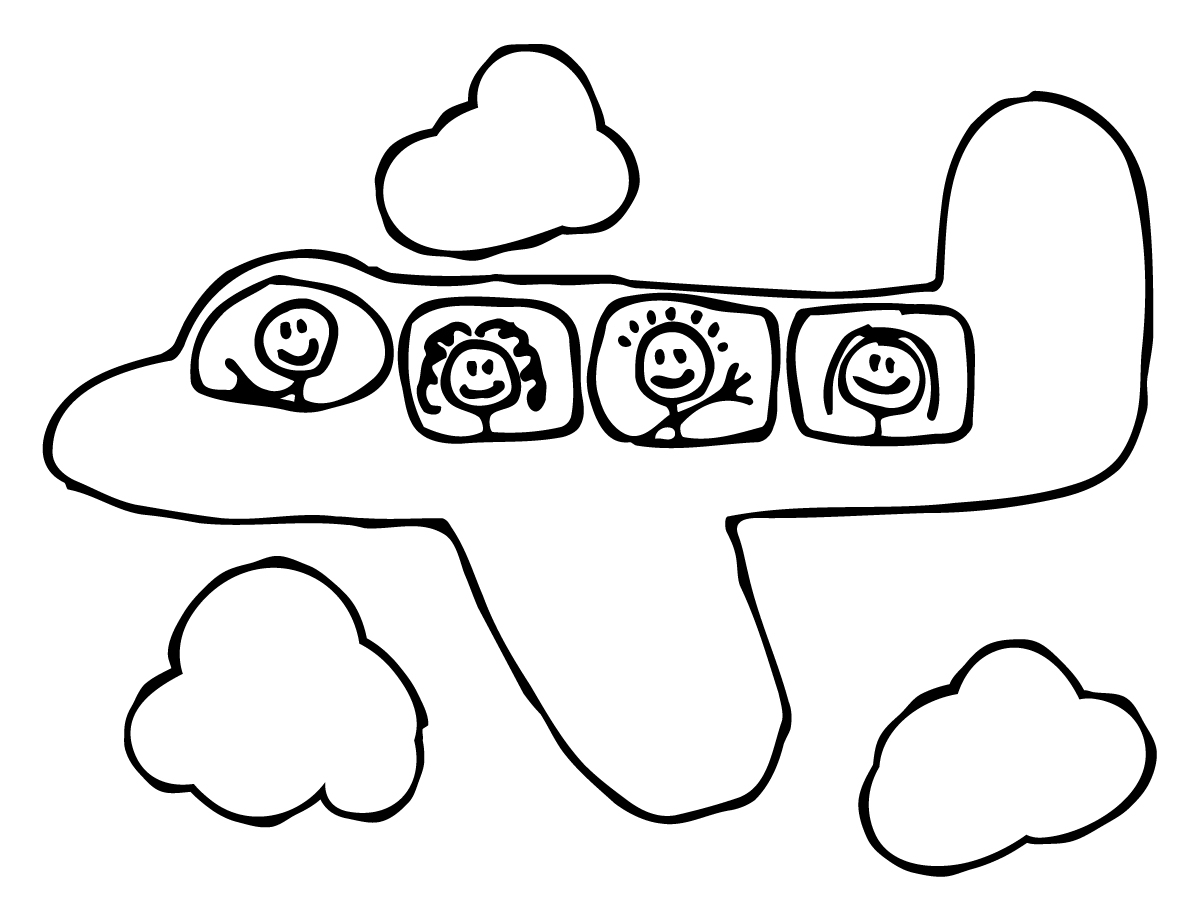 Plane Coloring Page Delighful Pages Of Airplane Throughout