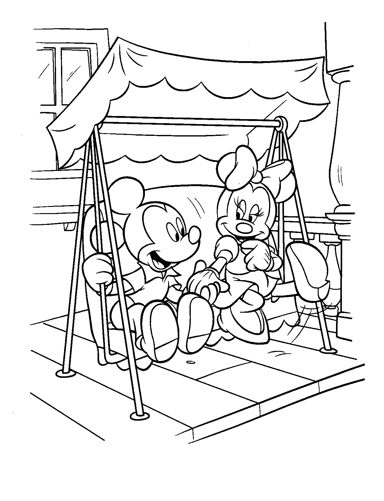 Coloring Pages Of Mickey And Minnie Mouse
