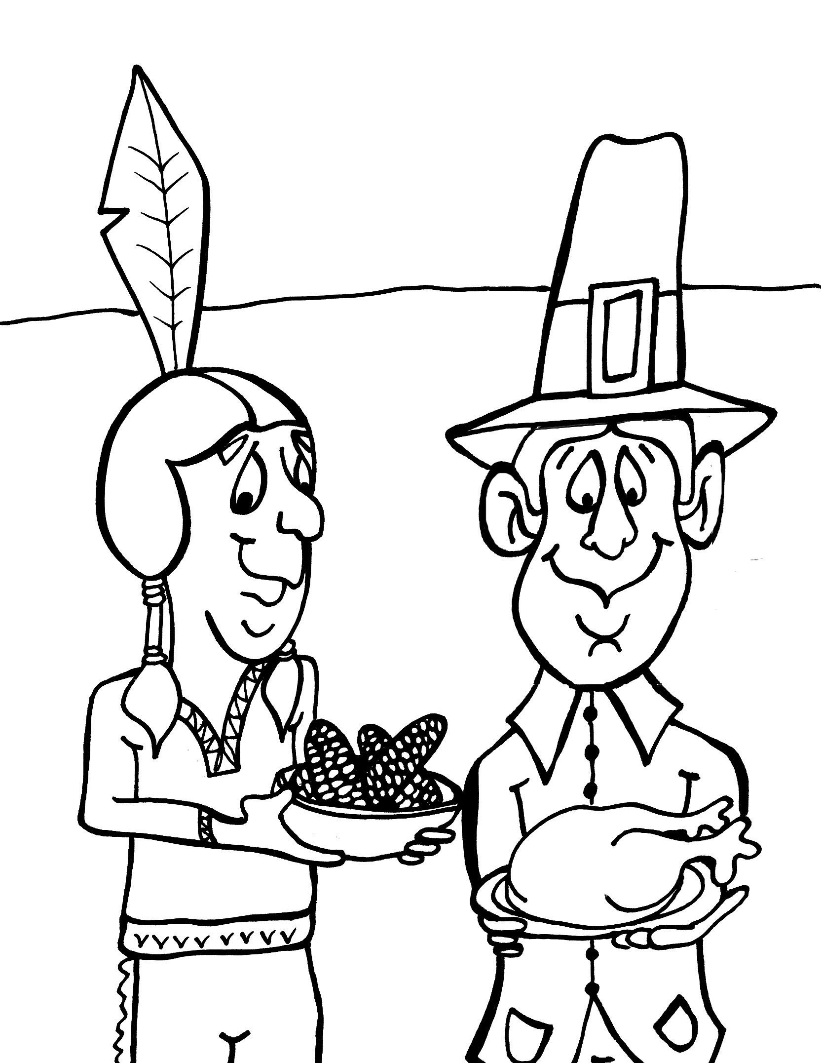 Free printable thanksgiving coloring pages for kids Coloring book for toddlers