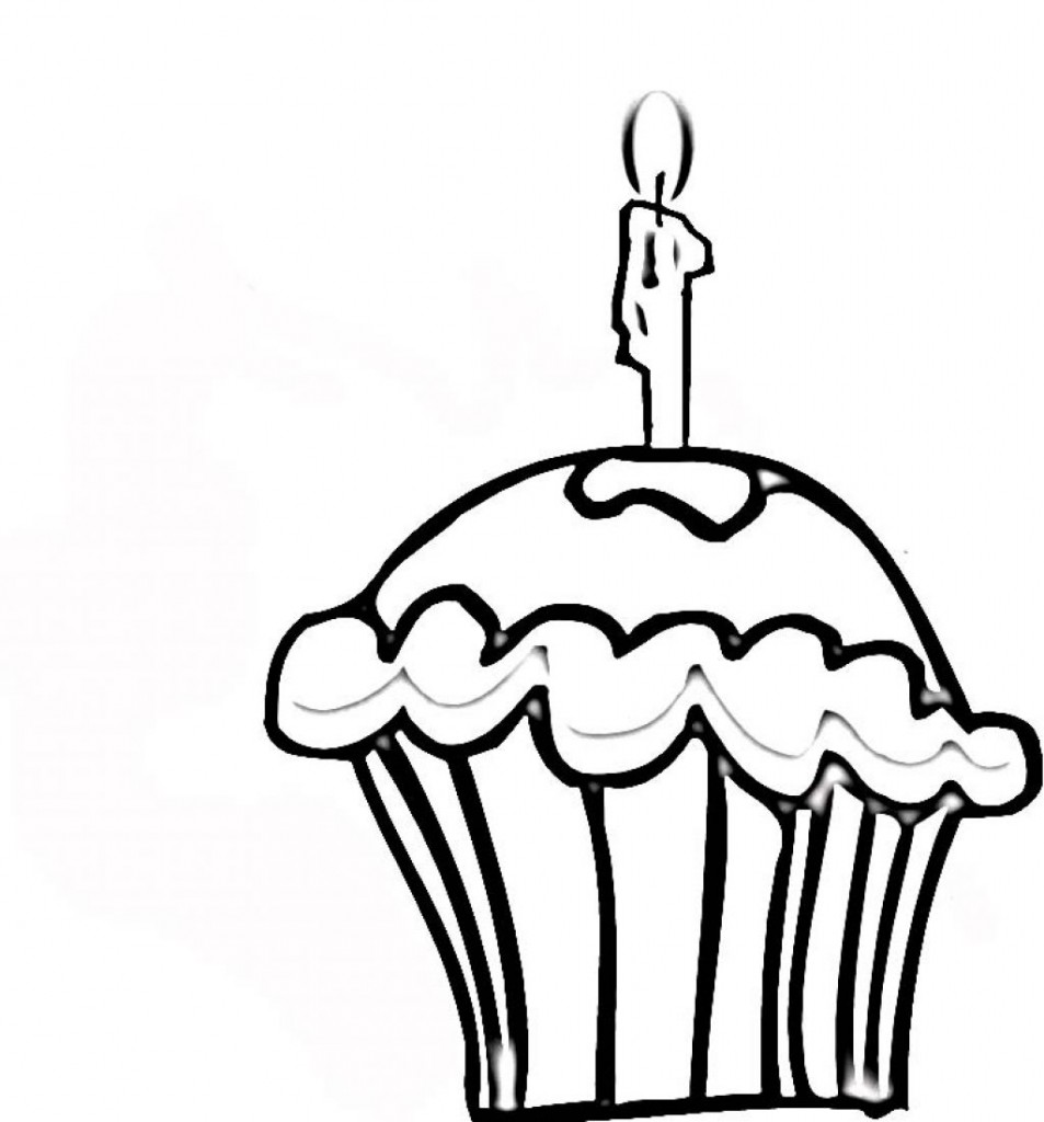Cupcake Coloring Page Images