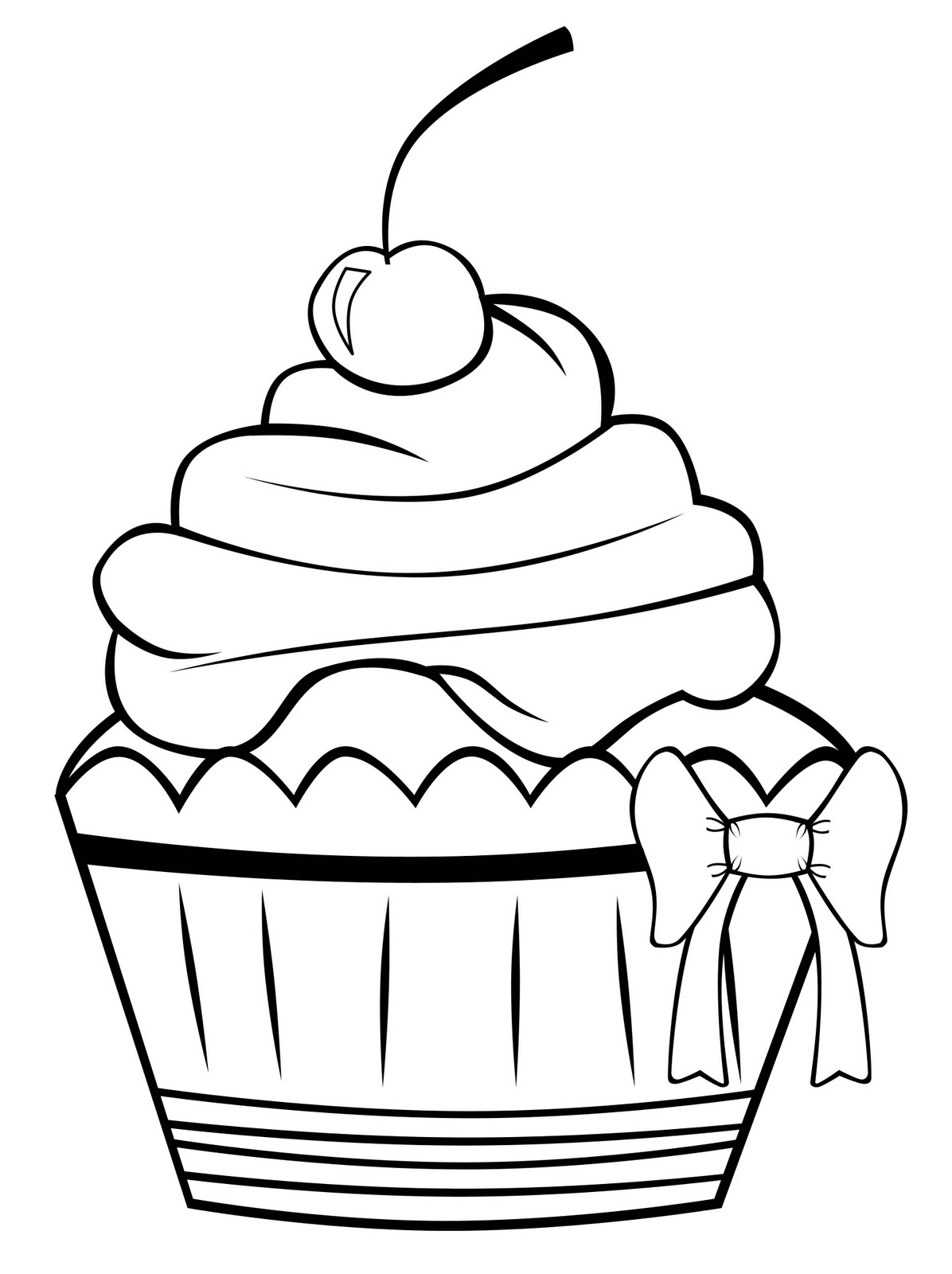 image relating to Printable Cupcakes named Absolutely free Printable Cupcake Coloring Webpages For Little ones