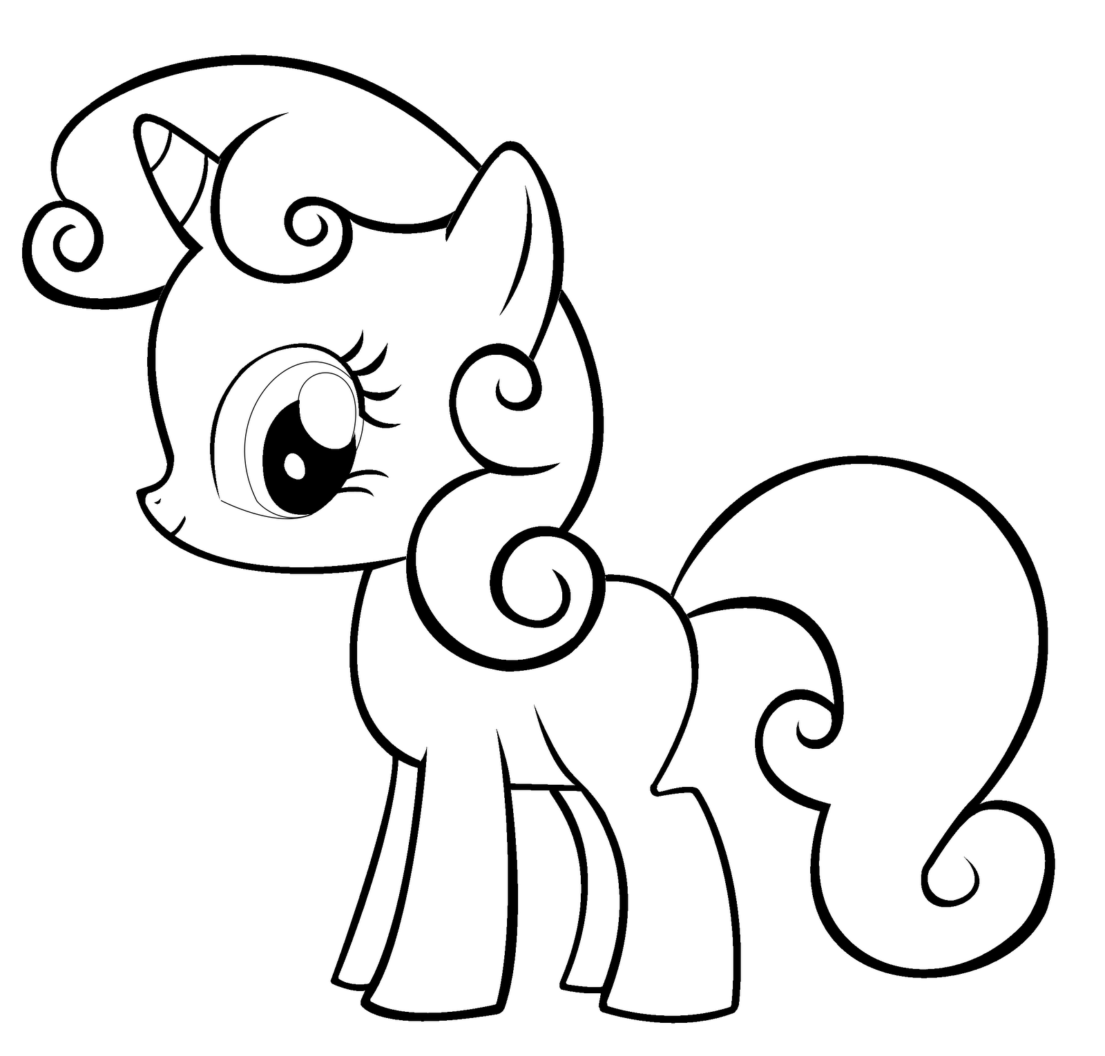 Free printable my little pony coloring pages for kids for Coloring pages that are cute