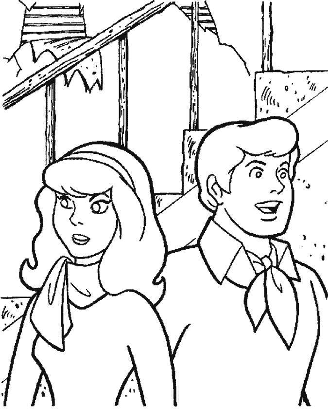 Daphne Blake & Fred Jones Coloring Page