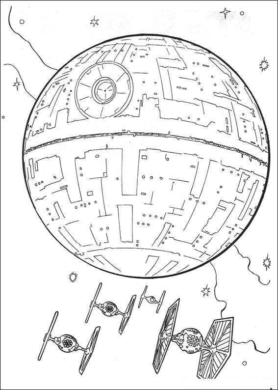 Death Star - Star Wars Coloring Pages