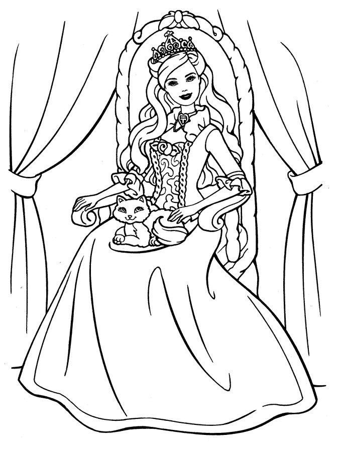 Disney Princess Coloring Book Pages