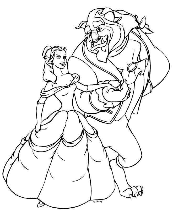 Beautiful Disney Princess Coloring Pages Online