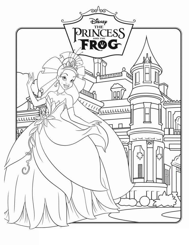 Free printable disney princess coloring pages for kids for Coloring pages for kids download