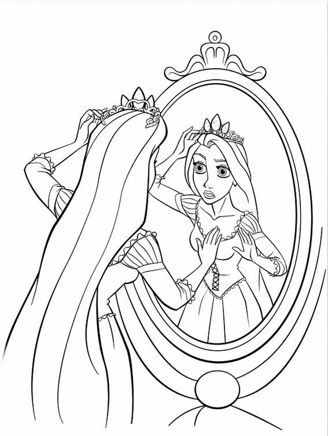 Free printable tangled coloring pages for kids for Disney princess rapunzel coloring pages