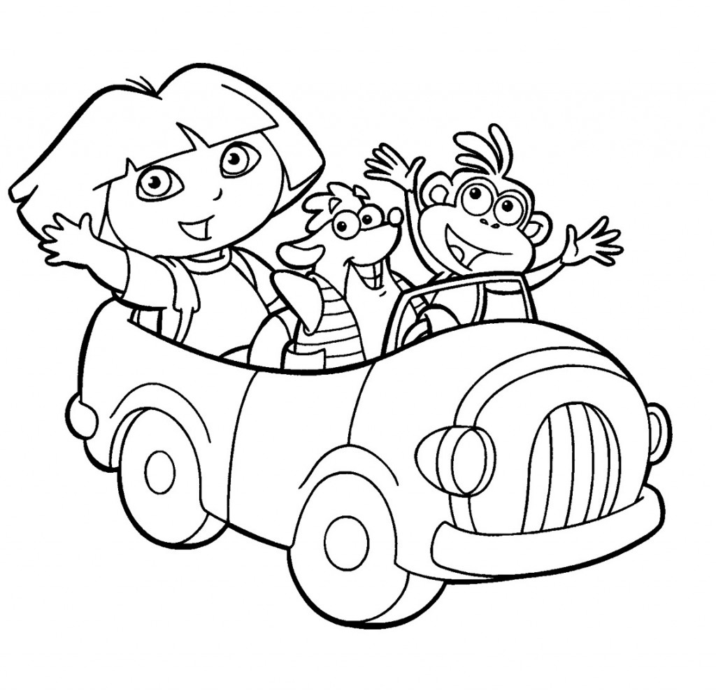 Dora The Explorer Coloring Book Pages