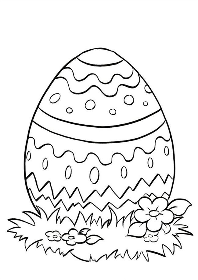 printable coloring pages easter eggs - photo#19