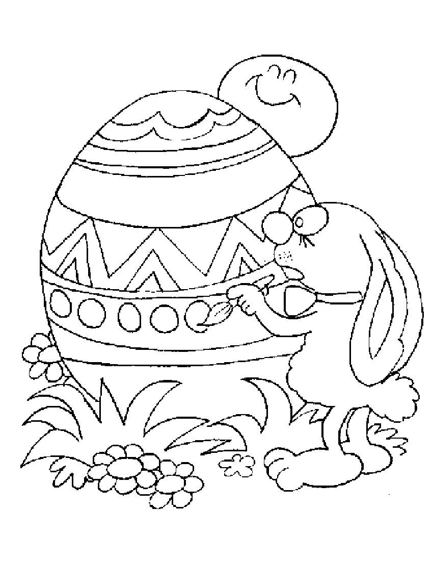 printable coloring pages easter eggs - photo#40
