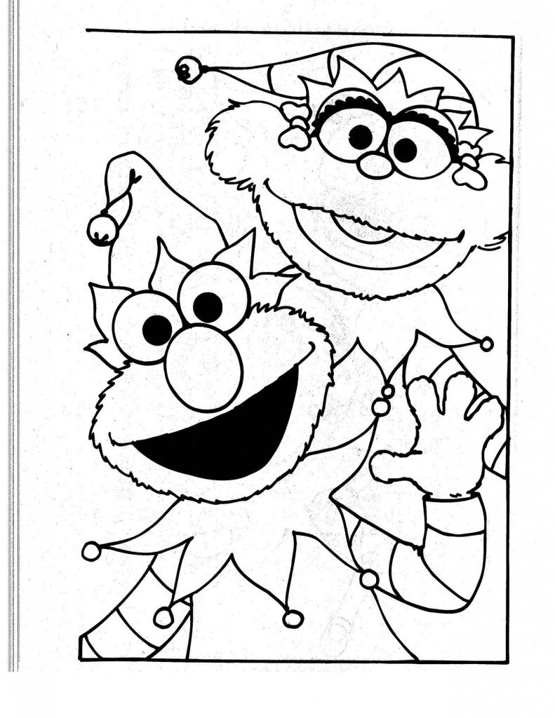 Elmo and Abby Coloring Pages