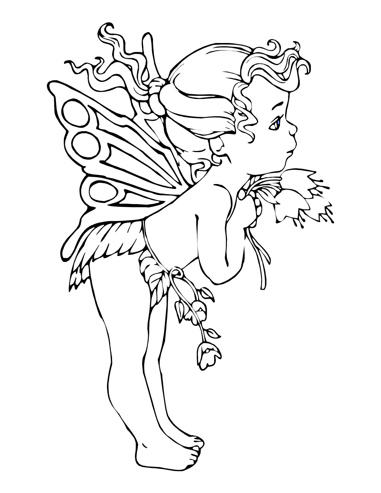 graphic relating to Free Printable Coloring Pages for Adults Fairies titled Cost-free Printable Fairy Coloring Webpages For Little ones