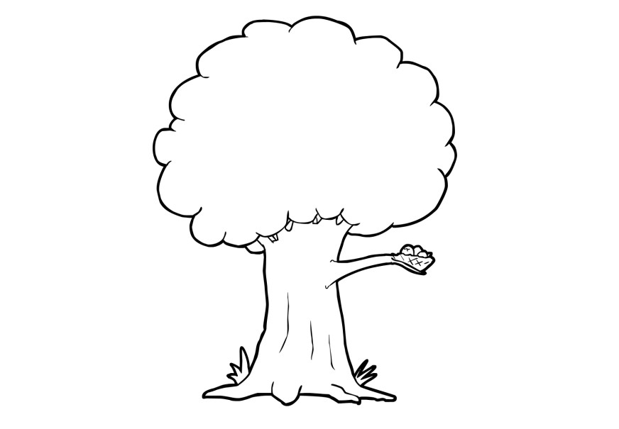 photo about Printable Tree Coloring Page known as No cost Printable Tree Coloring Internet pages For Youngsters