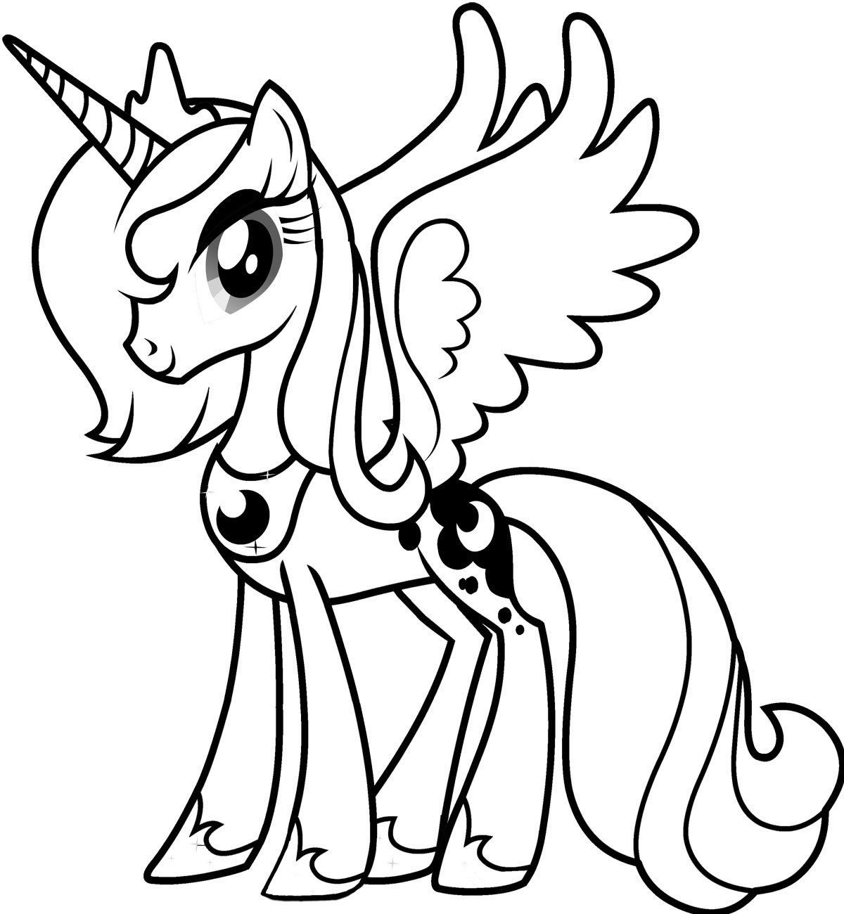 ponny coloring pages Free Printable My Little Pony Coloring Pages For Kids ponny coloring pages