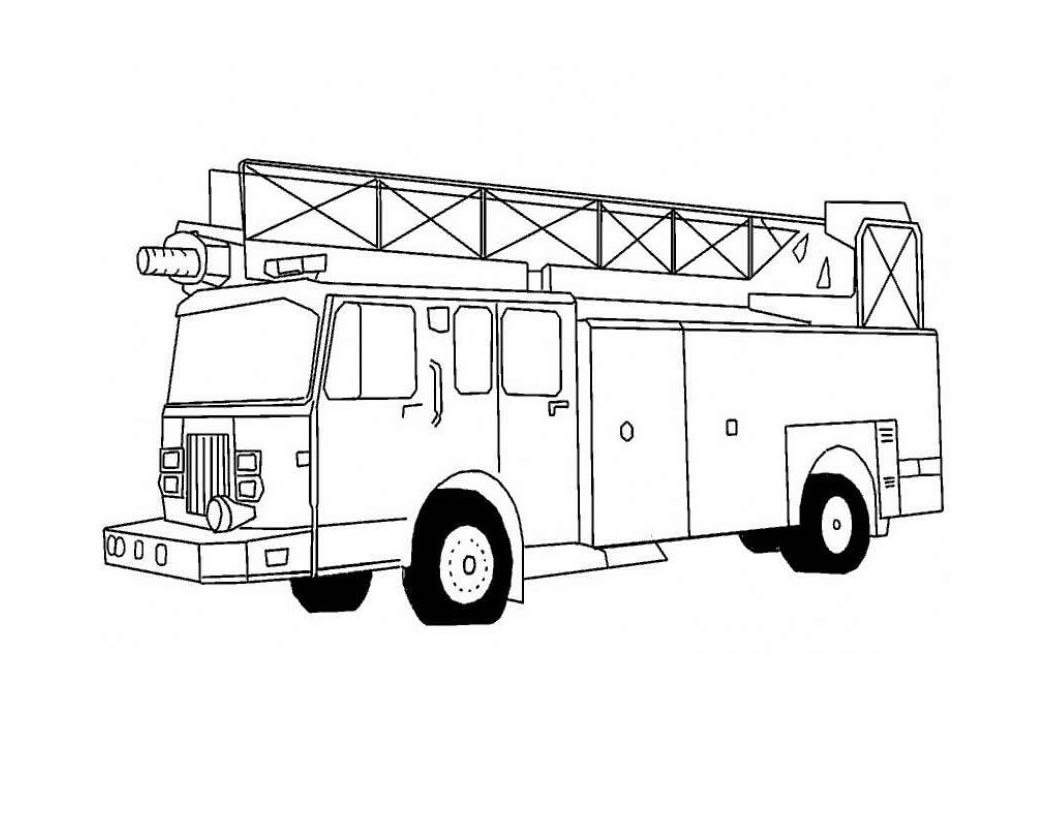 graphic about Free Fire Truck Coloring Pages Printable identified as No cost Printable Hearth Truck Coloring Webpages For Children