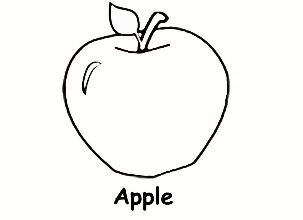 Free printable apple coloring pages for kids Coloring book for toddlers