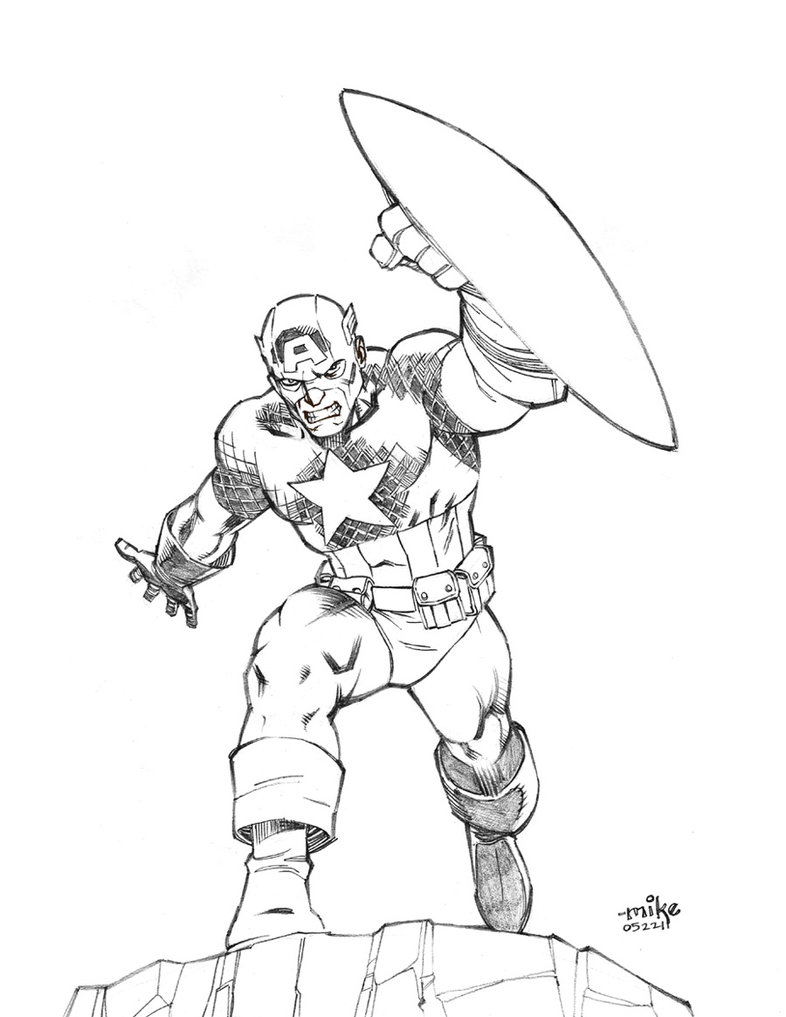 Free Captain America Coloring Pages For Kids