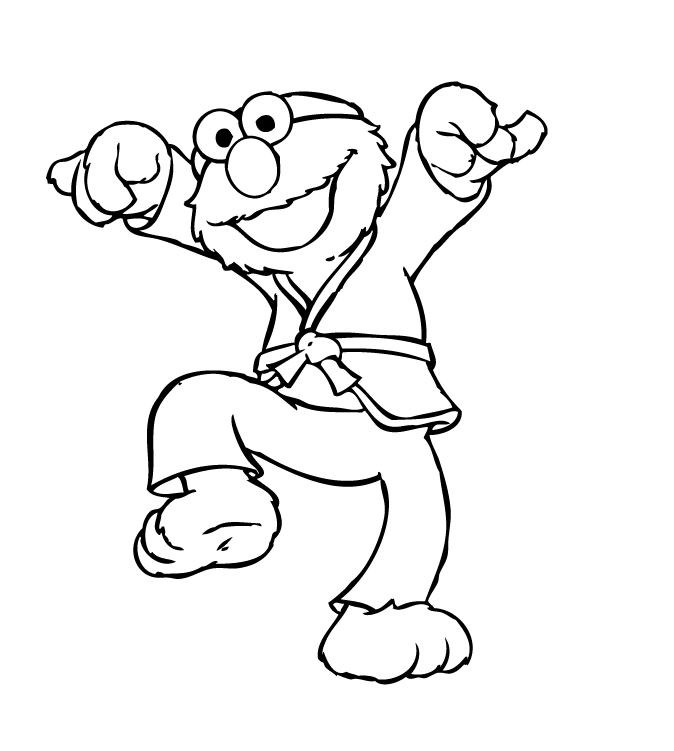 Free Coloring Pages Elmo