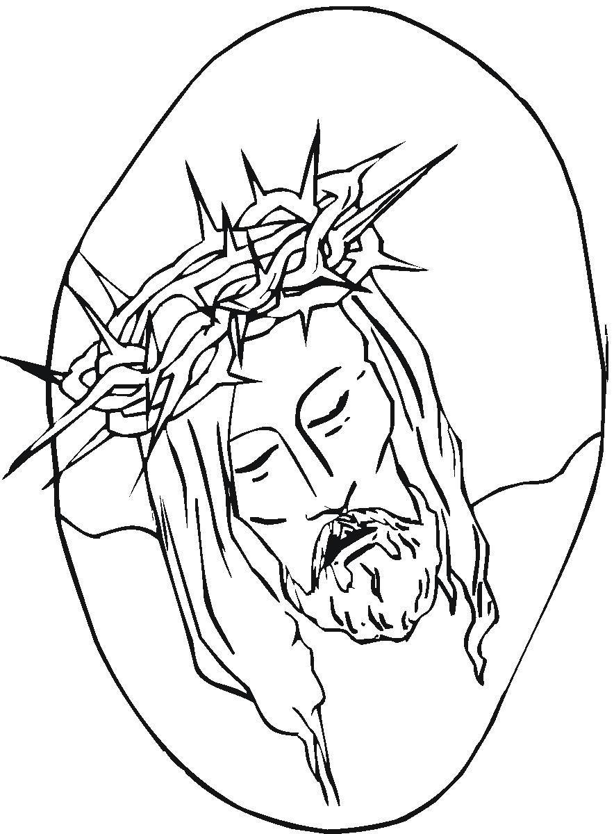 Line Art Jesus : Free printable jesus coloring pages for kids