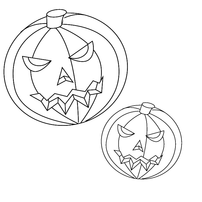 free coloring pages of pumpkins