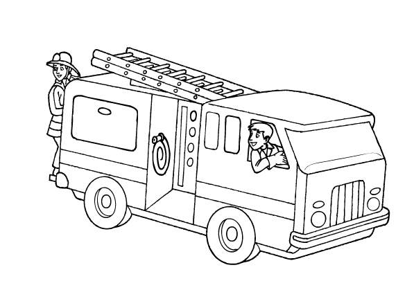 Lovely Free Fire Truck Coloring Pages
