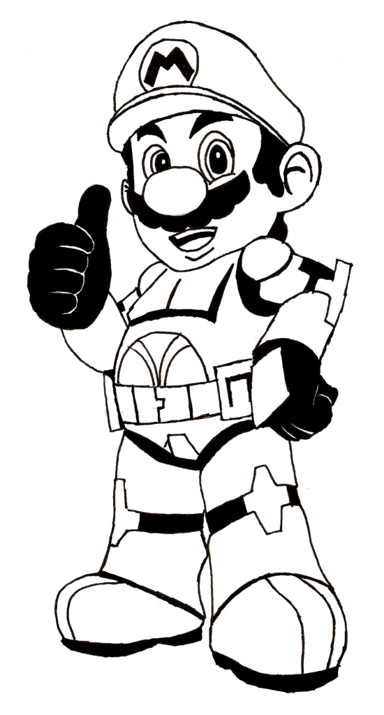 Mario Brothers Free Printable Coloring Pages