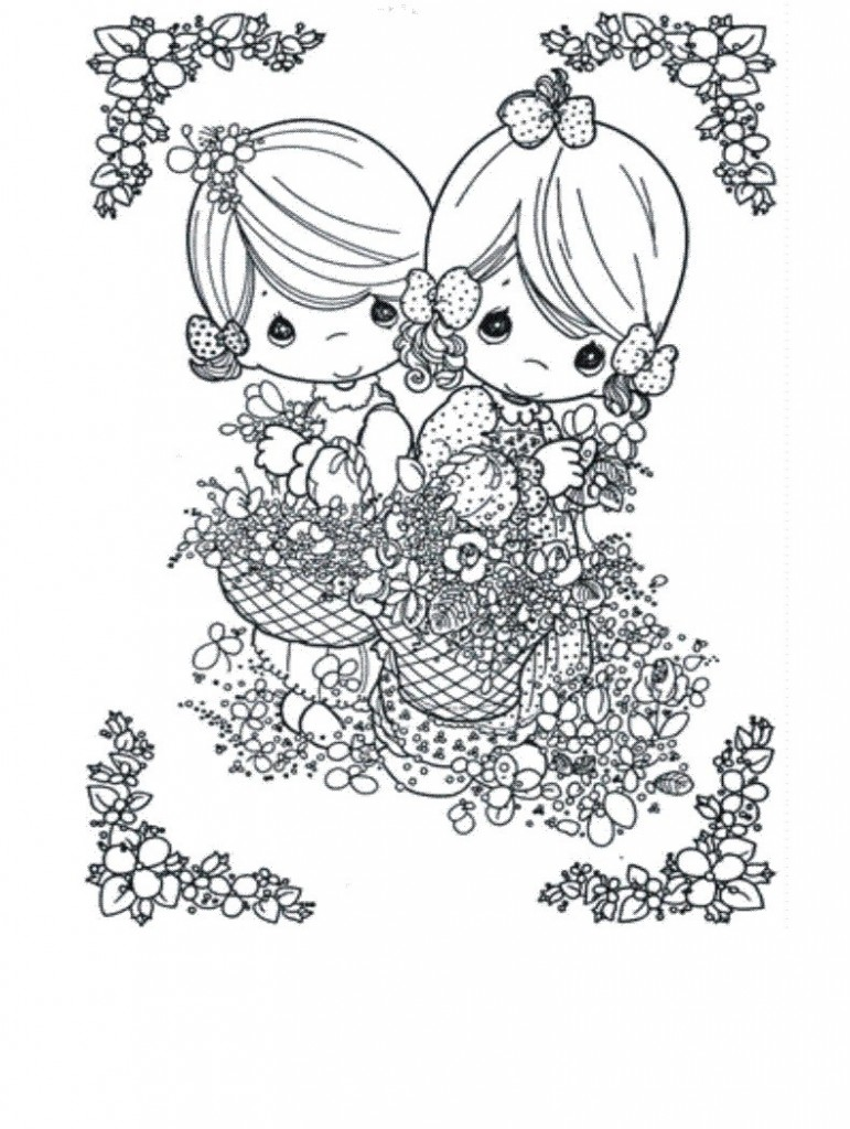 free printable precious moments coloring pages for kids