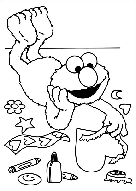 Free Sesame Street Coloring Pages
