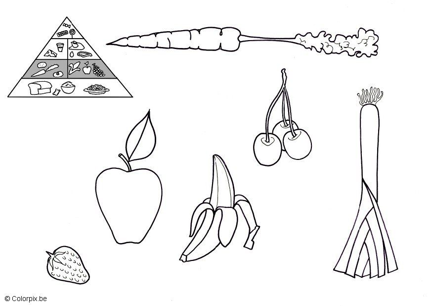 Fruits and Vegetables Coloring Pages For Kids