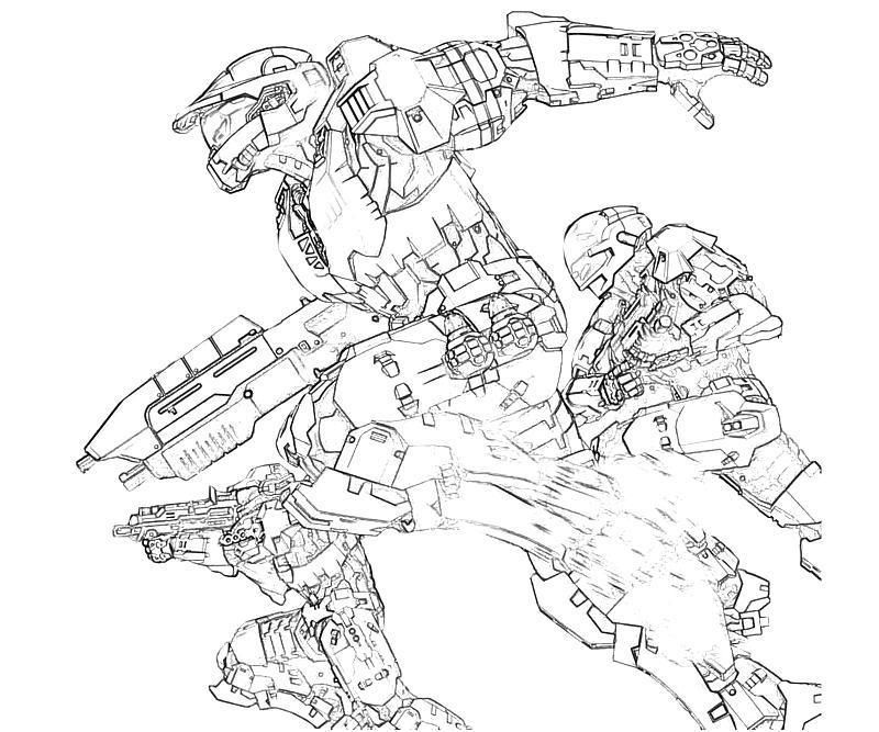 Halo 3 Odst Coloring Pages