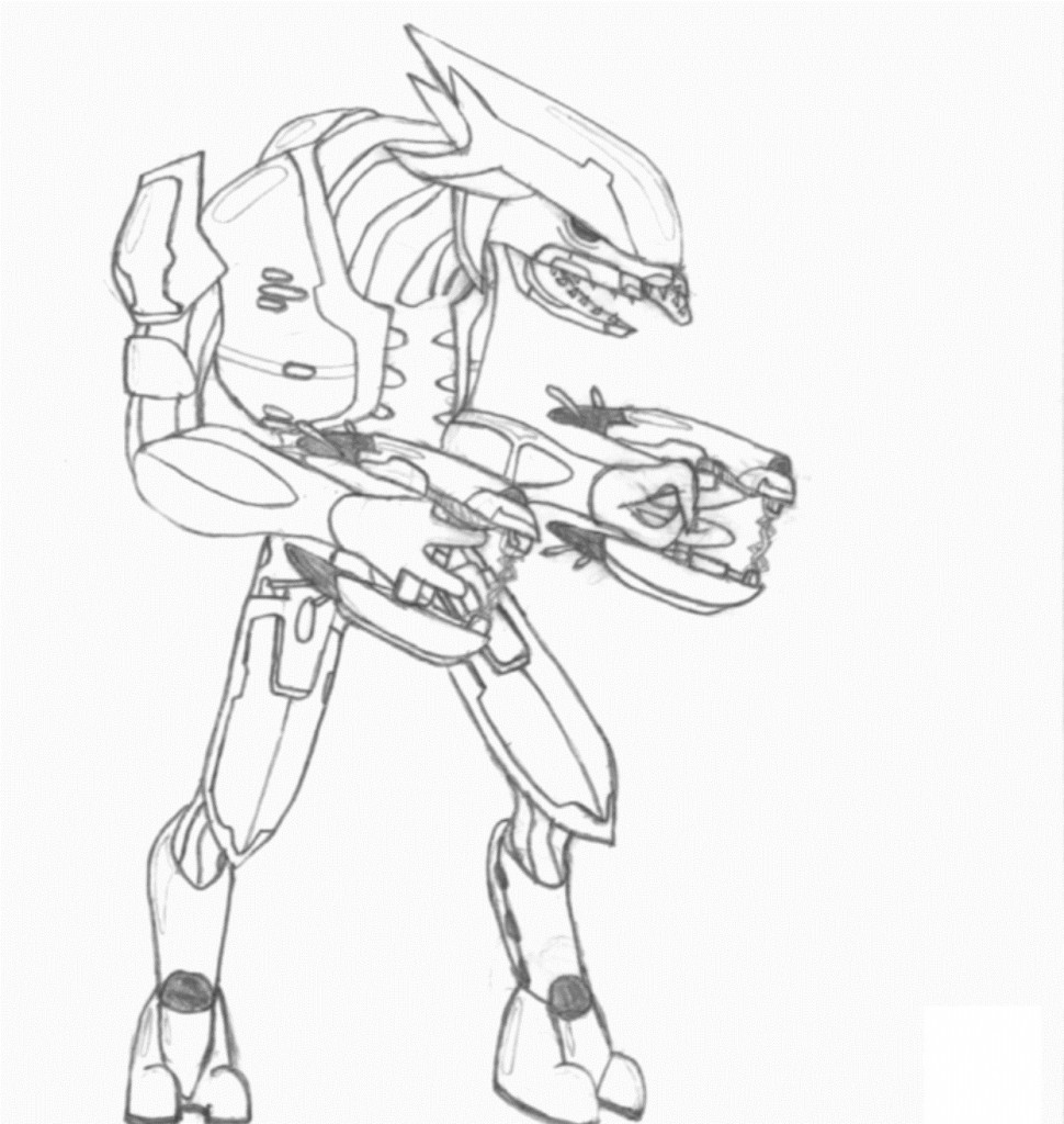 Free Printable Halo Coloring Pages