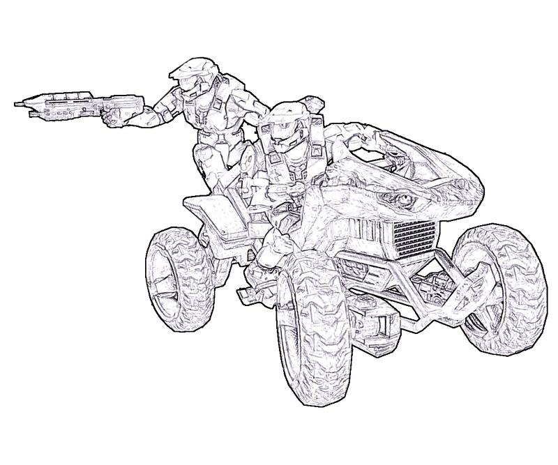 Halo Master Chief Coloring Pages