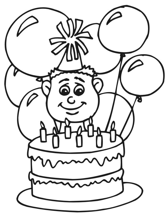 coloring pages brithday - photo#28