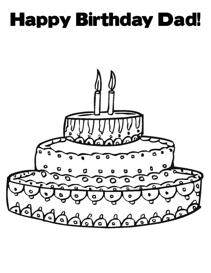 Happy Birthday Coloring Pages For Dad