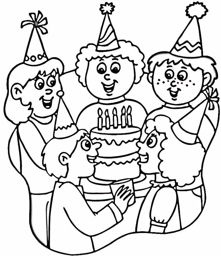 happy children coloring pages - photo#12
