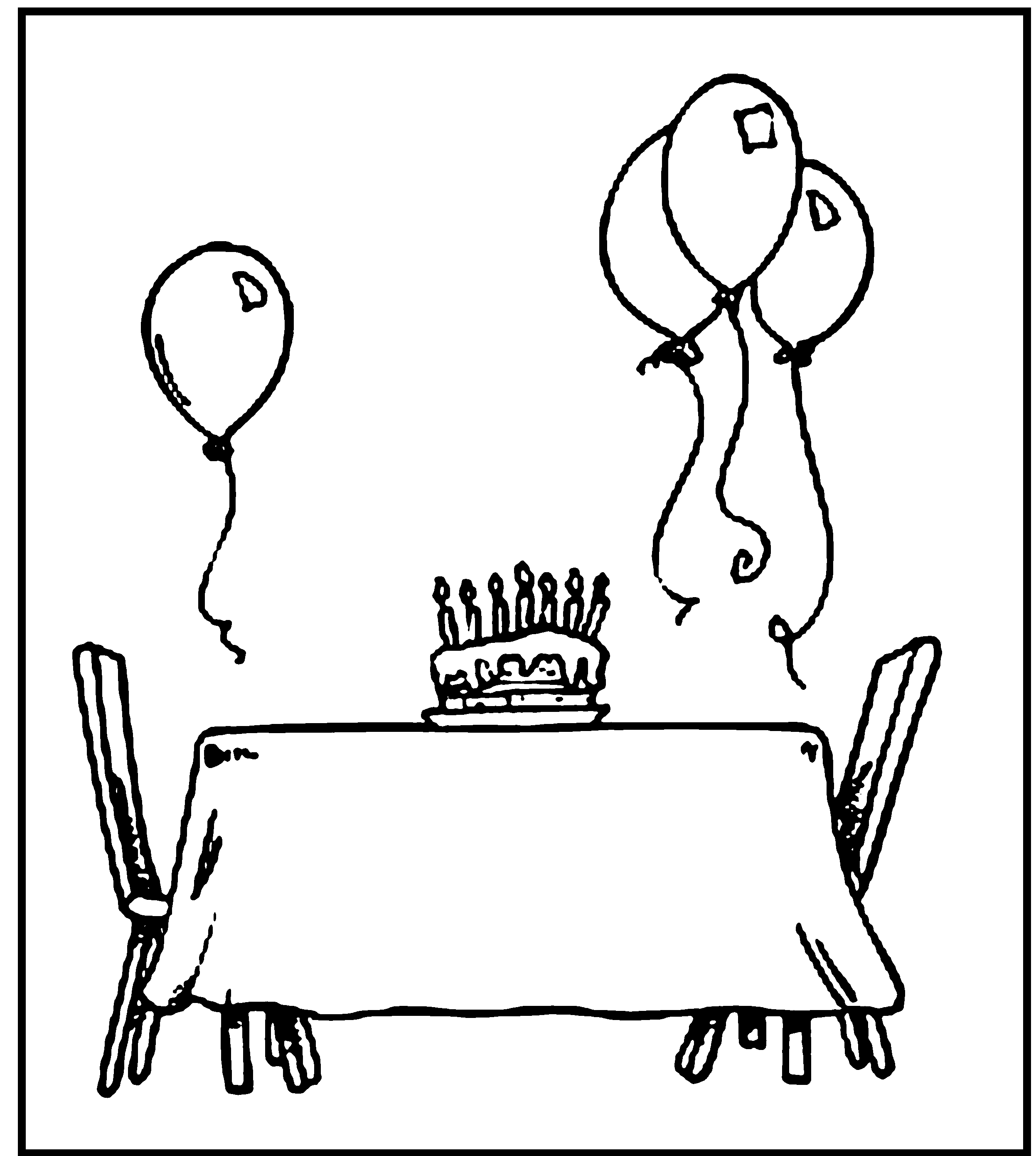 Happy Birthday Coloring Pages Printable To Print