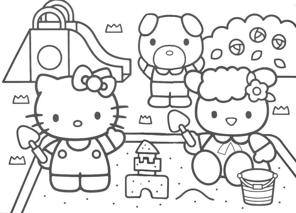 Free Printable Hello Kitty Coloring Pages For Kidsrhbestcoloringpagesforkids: Hello Kitty Characters Coloring Pages At Baymontmadison.com