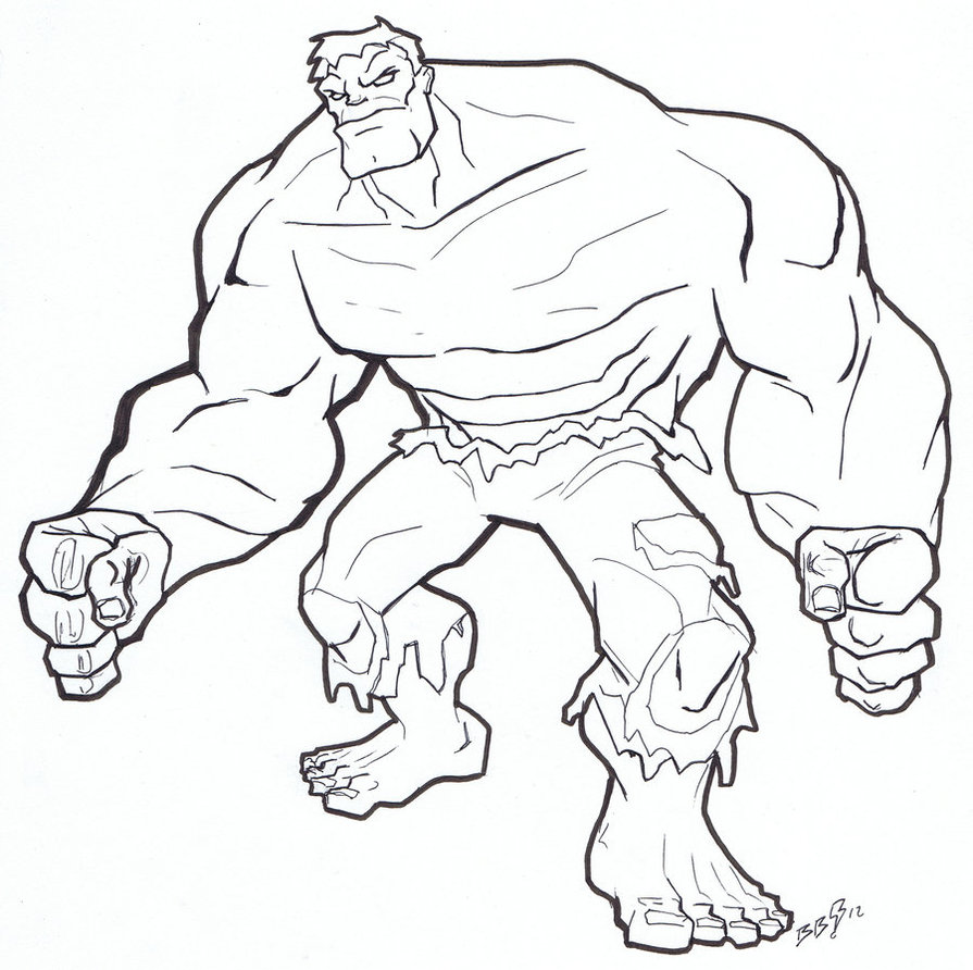Free Printable Hulk Coloring Pages For Kids | 892x895